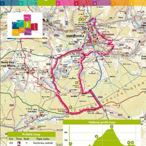 mapa trasy, autor: Město Smržovka