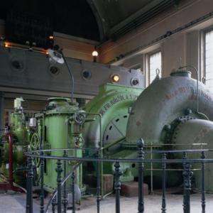 Vodní elektrárna Spálov - interiér