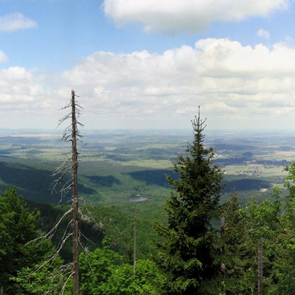 Vyhlídka z hory Tanvaldský Špičák