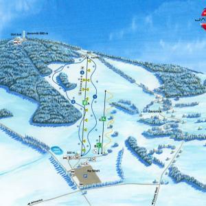 mapa Javorník, autor: archiv Ski areál Obří sud Javorník