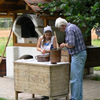 Minimuzeum výroby másla