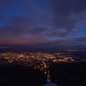 noční pohled z Ještědu, autor: Horský hotel Ještěd