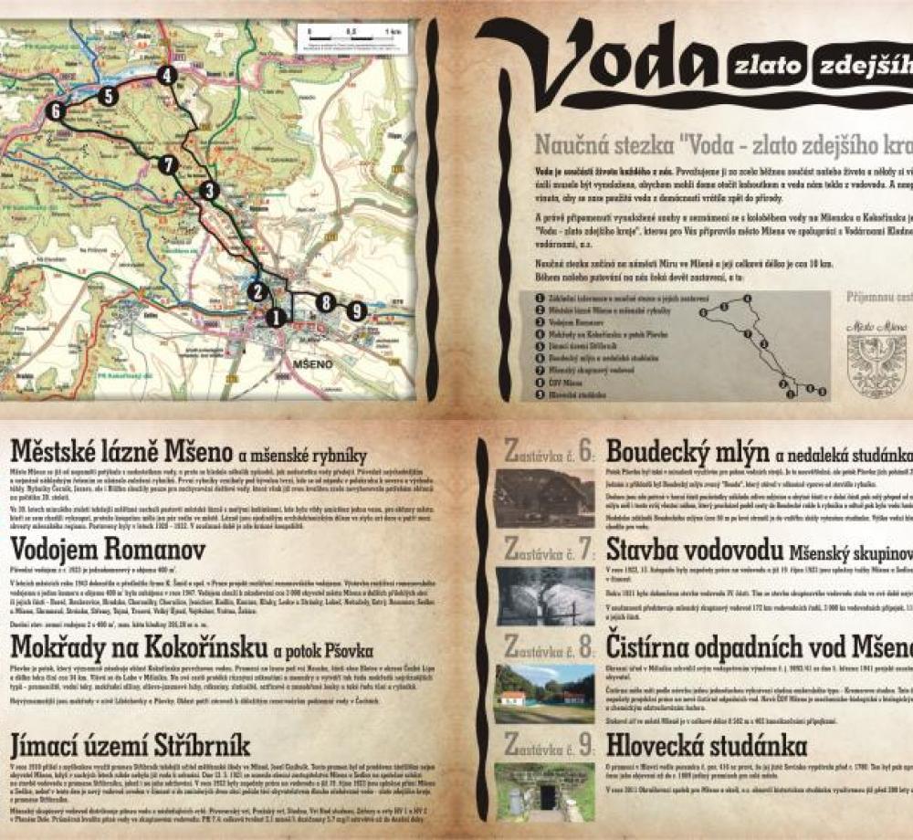 Mšenský vodovod - leták, autor: město Mšeno