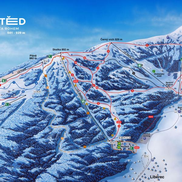 Plán Ski areálu Ještěd, author: SKI areál Ještěd