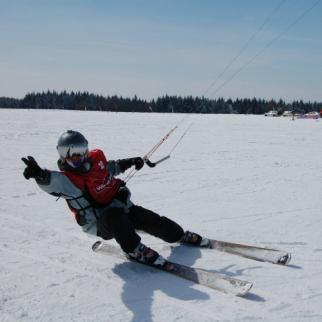 Snowkiting, autor: CZECH KITE FORCE s. r. o.