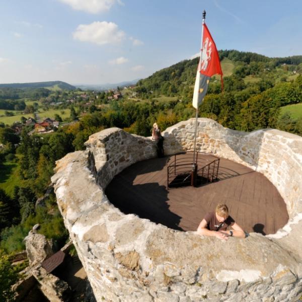 Hrad Frýdštejn   Pohled z věže