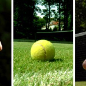 Přírodní tenisové kurty, autor: Slezákovi - zámek Bernštejn