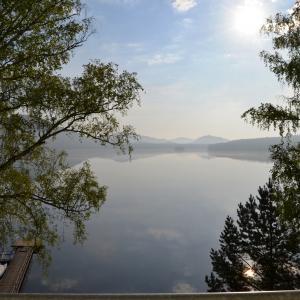 Pohled na Máchovo jezero z Hotelu Port