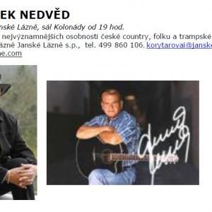 Koncert Františka Nedvěda, autor: Lázně Janské Lázně