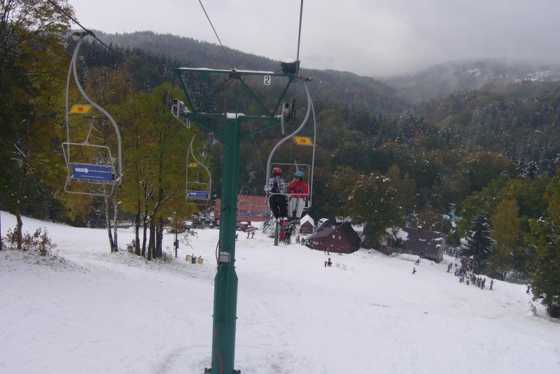 Sedačková lanovka Kořenov - Rejdice (zimní)