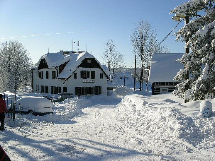 zimní chata Čert