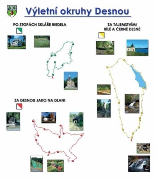 Mapa výletní okruhy Desnou