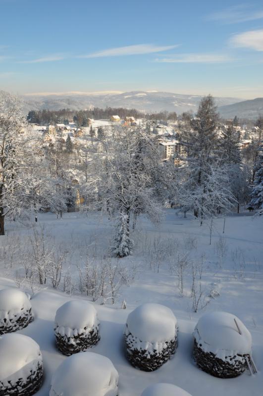 Parkhotel - Smržovka v Jizerských horách, výhled na Jizerské hory a Krkonoše