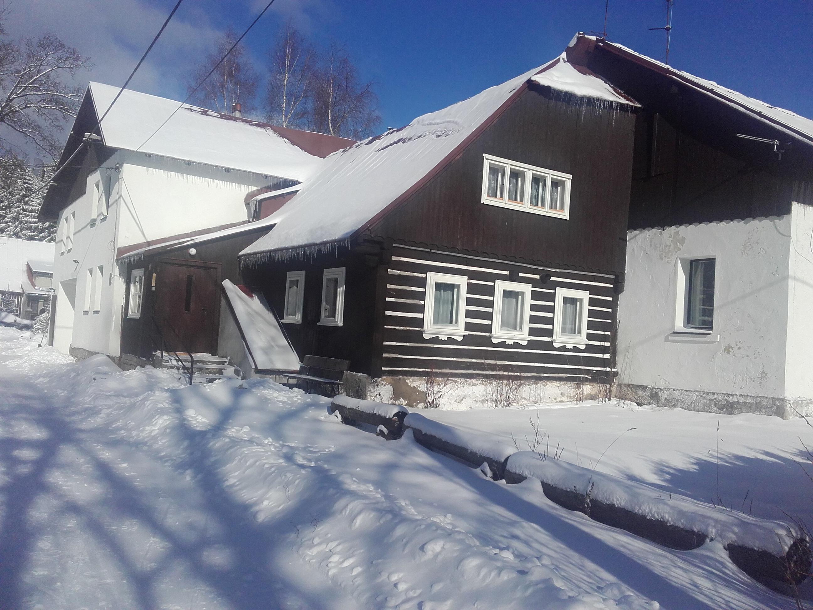 Chata Mariánka v zimě